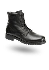 Czarne trapery Armani Jeans na zimę