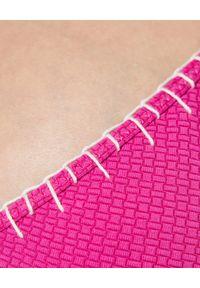 MARYSIA SWIM - Różowy top od bikini Lampone. Kolor: różowy, fioletowy, wielokolorowy. Materiał: materiał