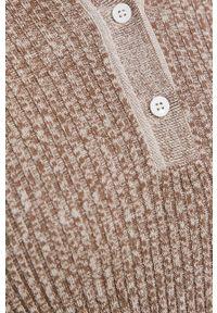 Samsoe & Samsoe - Samsoe Samsoe - Sweter. Okazja: na co dzień. Kolor: beżowy. Materiał: dzianina, bawełna. Długość rękawa: długi rękaw. Długość: krótkie. Styl: casual #4