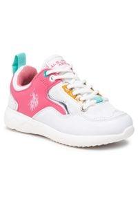 U.S. Polo Assn - Sneakersy U.S. POLO ASSN. - Carly CARL4152S1/YM1 Whi/Pink. Okazja: na co dzień. Kolor: biały. Materiał: skóra ekologiczna, materiał, skóra. Szerokość cholewki: normalna. Styl: casual