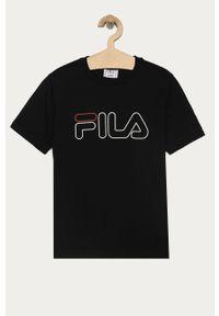 Czarna bluzka z krótkim rękawem Fila casualowa, na co dzień