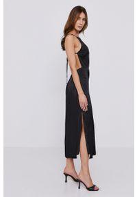 BARDOT - Bardot - Sukienka. Okazja: na co dzień. Kolor: czarny. Długość rękawa: na ramiączkach. Typ sukienki: proste. Styl: casual