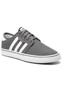 Szare buty sportowe Adidas na co dzień, z cholewką