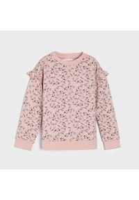 Różowa bluza Sinsay z falbankami