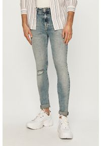 Calvin Klein Jeans - Jeansy Super Skinny. Kolor: niebieski