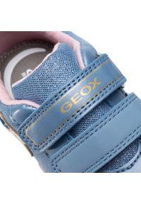 Niebieskie półbuty Geox na spacer, z cholewką