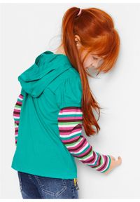 Zielona bluzka bonprix z nadrukiem, długa