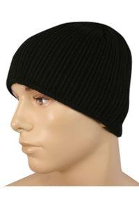 Czarna czapka Pako Jeans klasyczna, na zimę