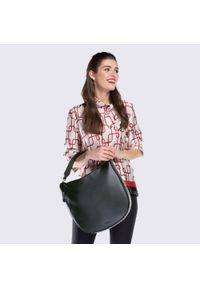 Czarna torebka worek Wittchen z aplikacjami, matowa #8