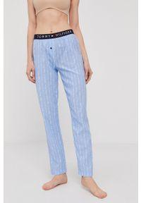 TOMMY HILFIGER - Tommy Hilfiger - Spodnie piżamowe. Kolor: niebieski. Materiał: tkanina