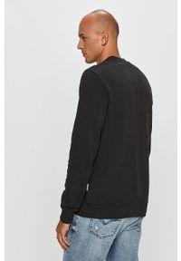 Czarna bluza nierozpinana Napapijri casualowa, bez kaptura