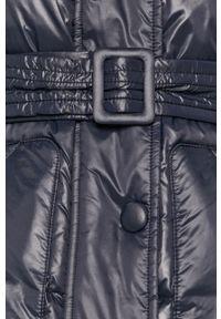 Niebieska kurtka Armani Exchange z kapturem, casualowa, na co dzień