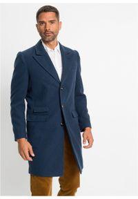 Niebieska kurtka bonprix klasyczna, z klasycznym kołnierzykiem