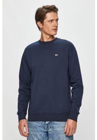 Niebieska bluza nierozpinana Tommy Jeans casualowa, na co dzień, z okrągłym kołnierzem