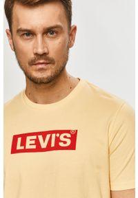 Żółty t-shirt Levi's® z nadrukiem, biznesowy