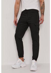 Selected - Spodnie. Okazja: na co dzień. Kolor: czarny. Materiał: tkanina. Wzór: gładki. Styl: casual