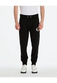 DSG - Czarne joggery Ivy. Kolor: czarny. Materiał: bawełna, dresówka, materiał. Wzór: aplikacja, napisy