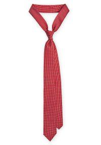 Czerwony krawat Lancerto w geometryczne wzory, do pracy