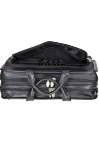 Czarna torba na laptopa MCKLEIN w kolorowe wzory, klasyczna