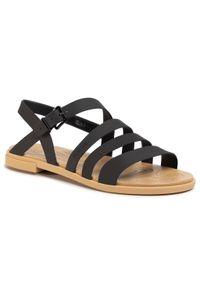 Czarne sandały Crocs na co dzień, casualowe