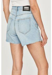 Dr. Denim - Szorty jeansowe. Okazja: na co dzień. Kolor: niebieski. Materiał: jeans, denim. Styl: casual