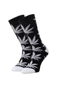 Skarpety Wysokie Unisex HUF - Essentials Plantlife Sock SK00298 r.OS Black. Kolor: czarny. Materiał: poliester, materiał, bawełna