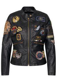 Czarna kurtka przejściowa Aeronautica Militare