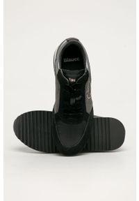 Szare buty sportowe Blauer na koturnie, z cholewką