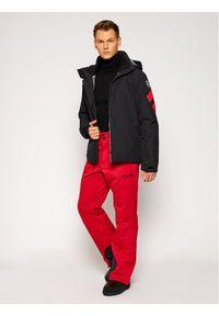 Czerwone spodnie sportowe EA7 Emporio Armani narciarskie