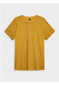 outhorn - T-shirt gładki męski. Materiał: bawełna, jersey, materiał. Wzór: gładki. Styl: sportowy