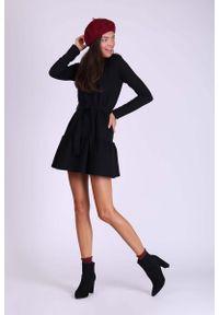 Czarna sukienka wizytowa Nommo mini