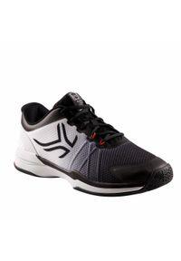 ARTENGO - Buty tenisowe męskie na każdą nawierzchnię Artengo TS590. Kolor: biały, czarny, wielokolorowy. Materiał: kauczuk. Szerokość cholewki: normalna. Sport: tenis