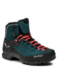 Niebieskie buty trekkingowe Salewa trekkingowe, z cholewką, Gore-Tex