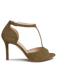 Zielone sandały Sergio Bardi eleganckie