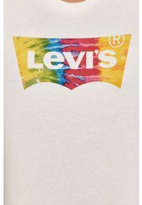 Biały t-shirt Levi's® biznesowy, z nadrukiem