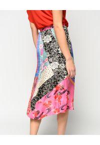 Pinko - PINKO - Orientalna spódnica midi Bibidi. Kolor: wielokolorowy, różowy, fioletowy. Sezon: lato
