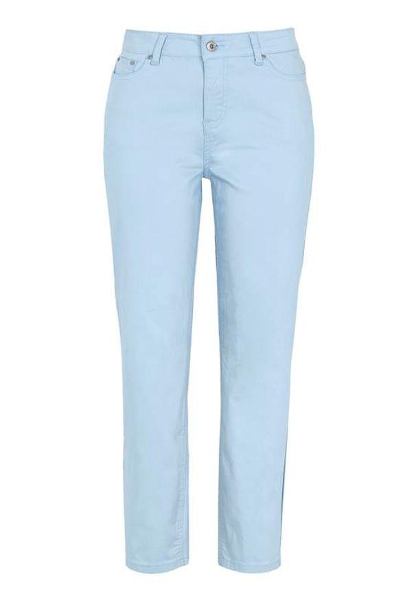 Cellbes Rozciągliwe spodnie z materiału twill błękitny female niebieski 58. Kolor: niebieski