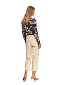 TOP SECRET - Koszula damska z nadrukiem w kwiaty. Okazja: do pracy, na co dzień. Kolor: niebieski. Materiał: tkanina, wiskoza. Długość rękawa: długi rękaw. Długość: długie. Wzór: kwiaty, nadruk. Sezon: jesień. Styl: elegancki, casual