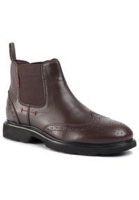 Brązowe buty zimowe Sergio Bardi na co dzień, klasyczne