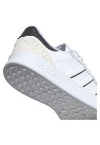 Adidas - Buty męskie adidas Breaknet Plus FY5914. Okazja: na co dzień. Zapięcie: pasek. Materiał: zamsz, skóra, materiał, guma. Szerokość cholewki: normalna. Sport: tenis