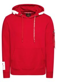Alpha Industries Bluza Alpha Hoody 126345 Czerwony Regular Fit. Kolor: czerwony
