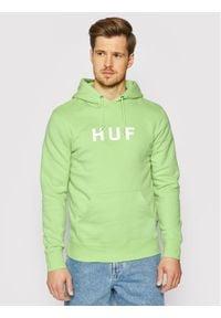 HUF Bluza Essentials Og Logo PF00099 Zielony Regular Fit. Kolor: zielony