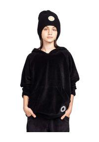 ROBERT KUPISZ - Czarna bluza z logo Kids Velvet. Typ kołnierza: kaptur. Kolor: czarny. Materiał: tkanina. Wzór: aplikacja