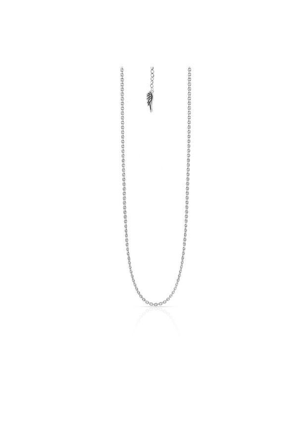 W.KRUK Wyjątkowy Srebrny Łańcuszek - srebro 925 - WWK/LS1487. Materiał: srebrne. Kolor: srebrny. Wzór: aplikacja