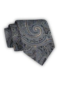 Chattier - Klasyczny Krawat Męski, Wzór Orientalny, Szeroki 8 cm, Elegancki -CHATTIER. Kolor: niebieski, beżowy, brązowy, wielokolorowy. Materiał: tkanina. Styl: klasyczny, elegancki
