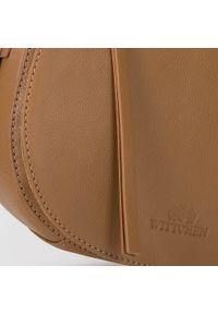 Wittchen - Damska listonoszka saddle bag z miękkiej skóry. Wzór: haft, aplikacja. Sezon: lato. Dodatki: z haftem. Materiał: skórzane. Styl: elegancki