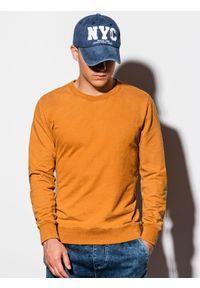 Pomarańczowa bluza Ombre Clothing klasyczna, bez kaptura
