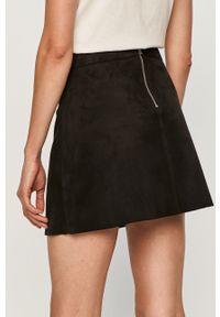 Czarna spódnica only casualowa, z podwyższonym stanem