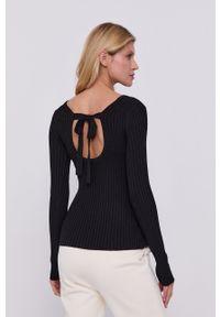 Samsoe & Samsoe - Samsoe Samsoe - Sweter. Kolor: czarny. Materiał: dzianina. Długość rękawa: długi rękaw. Długość: długie #3