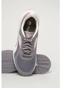 Białe buty sportowe Reebok na średnim obcasie, na sznurówki, do biegania, z cholewką
